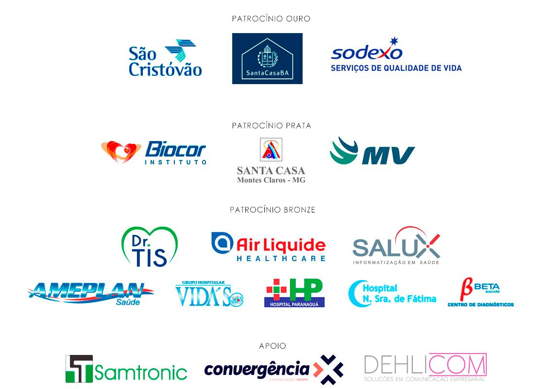 Patrocinadores 100 Mais Influentes da Saúde - Grupo Mídia